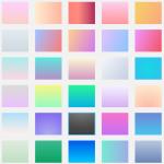 最近のトレンドカラー、グラデーションとフラットデザイン2.0について